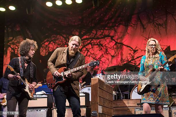 American Blues and Rock group the Tedeschi Trucks Band perform opening night of the 30th Anniversary season of Central Park SummerStage New York New...