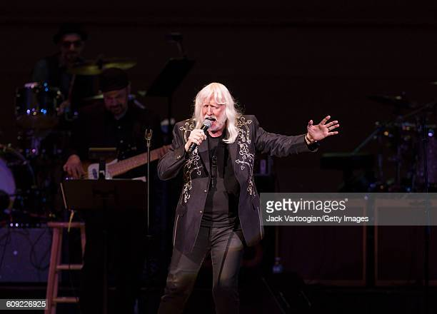 American Blues and Rock musician Edgar Winter performs onstage during Lead Belly Fest at Carnegie Hall New York New York February 4 2016
