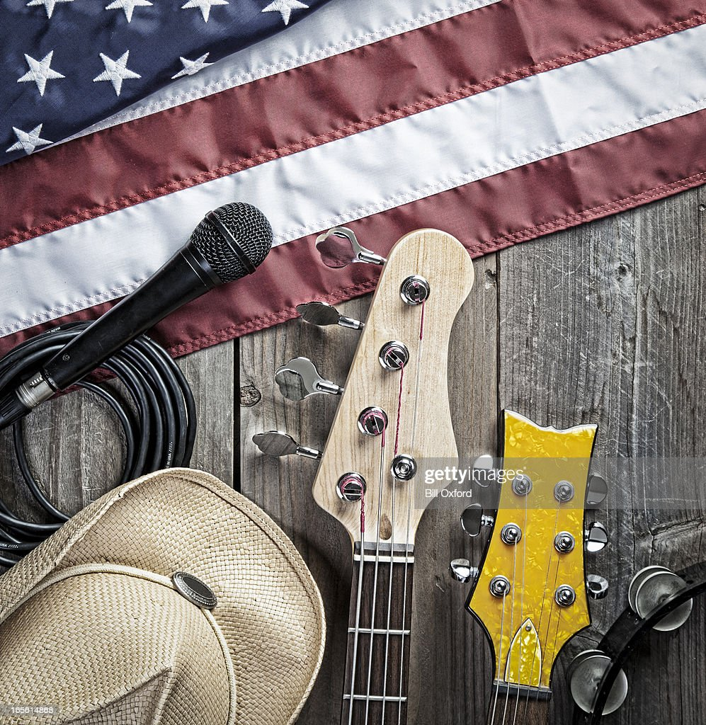 American Blues. Country Music. : Stock Photo