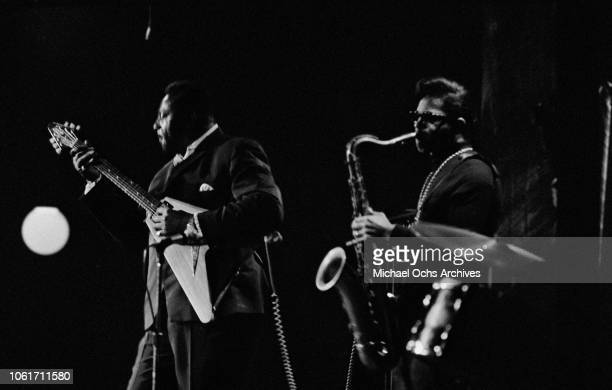 American blues guitarist Albert King performs at the Village Gate nightclub in Greenwich Village New York City 11th April 1969