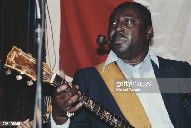 American blues guitarist Albert King performs live on stage in New York in 1979