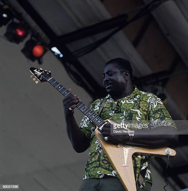 Albert King performs on stage at the Newport Jazz Festival held in Newport Rhode Island on July 12 1970