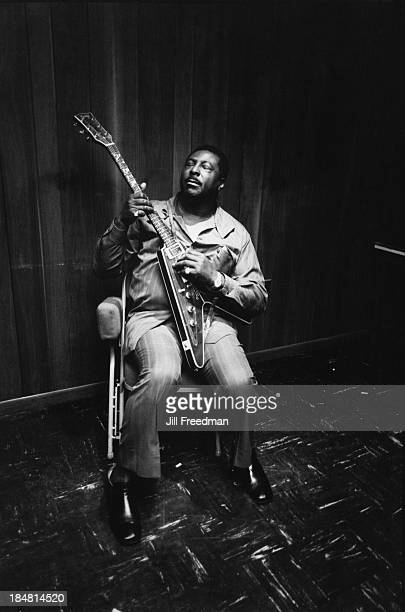 American blues guitarist and singer Albert King plays the guitar in New Orleans 1973