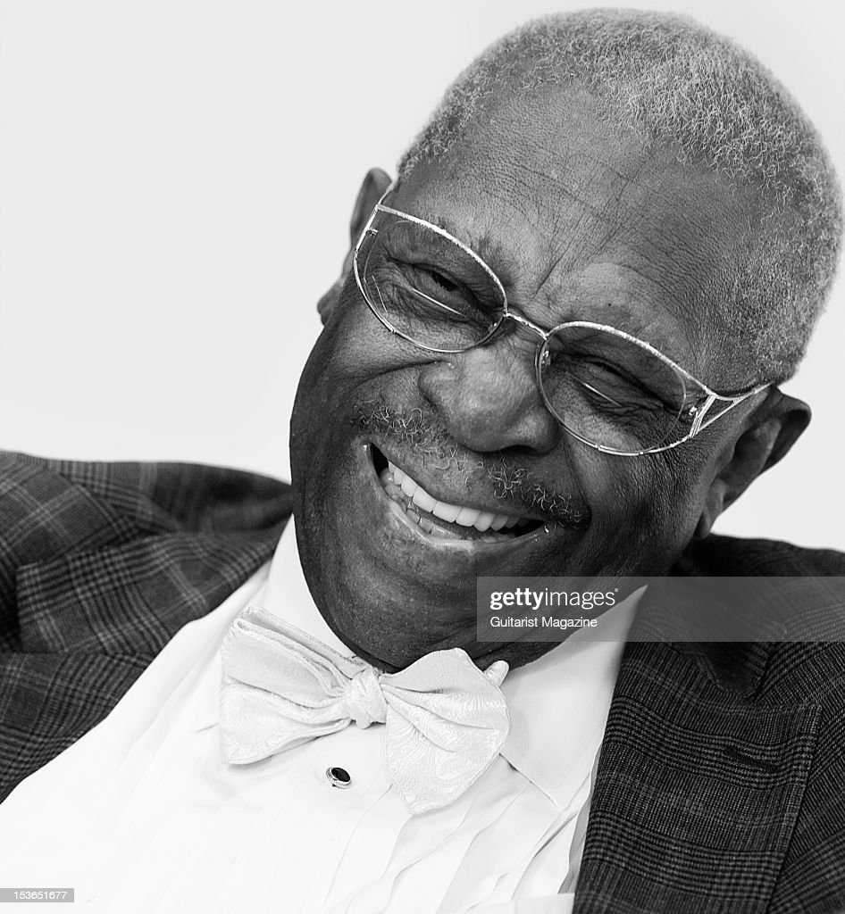 American blues guitarist B.B. King. During a portrait shoot and interview for Guitarist Magazine, June 28, 2011.