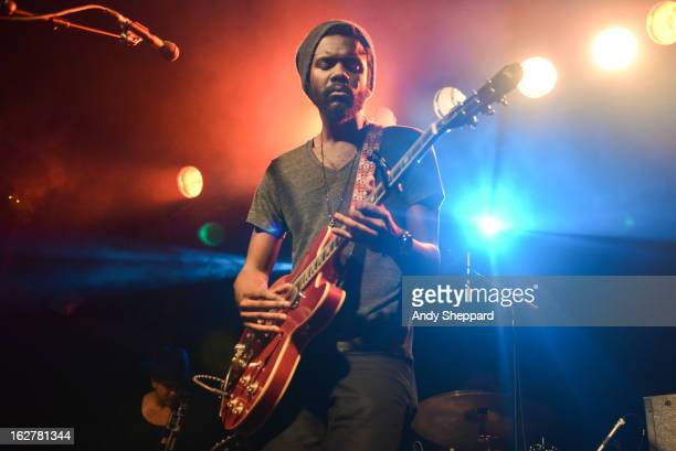American Blues guitarist Gary Clark Jr performs on stage at The Garage on February 26 2013 in London England
