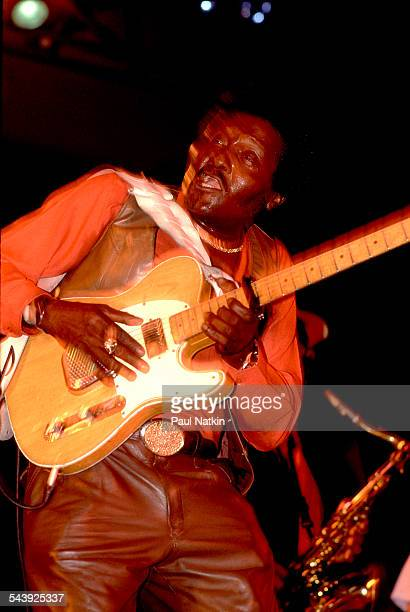 American blues musician Albert Collins performs at the Park West auditorium Chicago Illinois April 2 1978