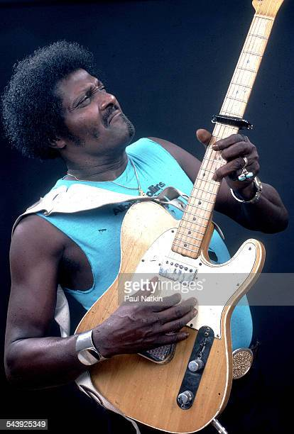 American blues musician Albert Collins performs Chicago Illinois October 12 1980