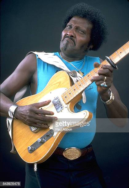 American blues musician Albert Collins performs Chicago Illinois October 12 1977