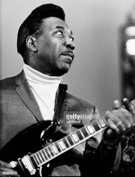 American blues musician and singer Muddy Waters in concert circa 1960