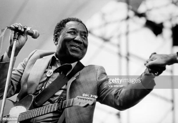 American blues musician and singer Muddy Waters in concert circa 1970