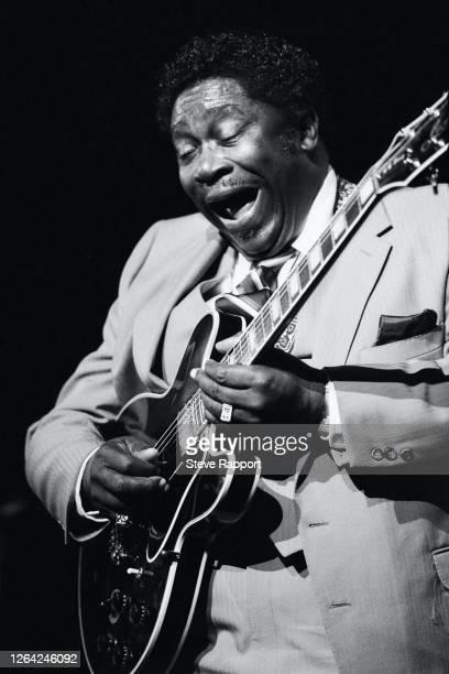 American Blues musician BB King , Hammersmith Odeon, London, 5/20/1982.