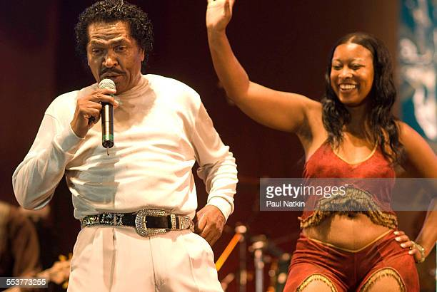 American Blues musician Bobby Rush performs onstage at the Petrillo Bandshell Chicago Illinois June 10 2007