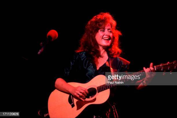 American blues musician Bonnie Raitt performs onstage at the Vic Theater Chicago Illinois May 12 1989