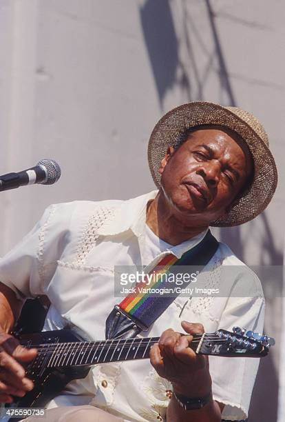 American Blues musician Carolina Slim performs at Central Park SummerStage New York New York July 1 1989