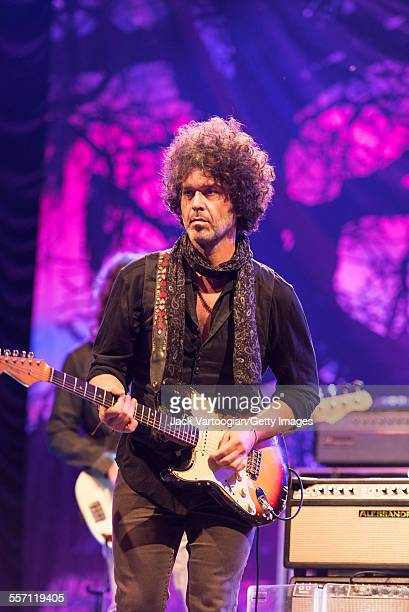 American Blues musician Doyle Bramhall II plays guitar as a special guest with the Tedeschi Trucks Band on opening night of the 30th Anniversary...