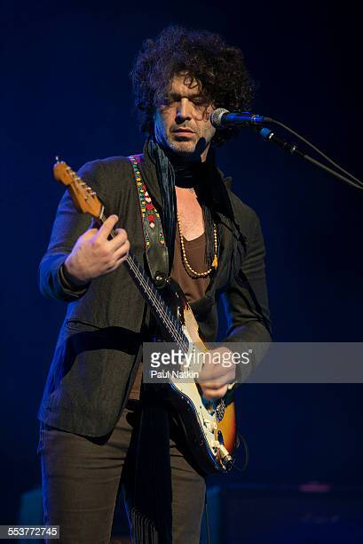 American Blues musician Doyle Bramhall performs onstage at the Chicago Theater Chicago Illinois March 14 2014