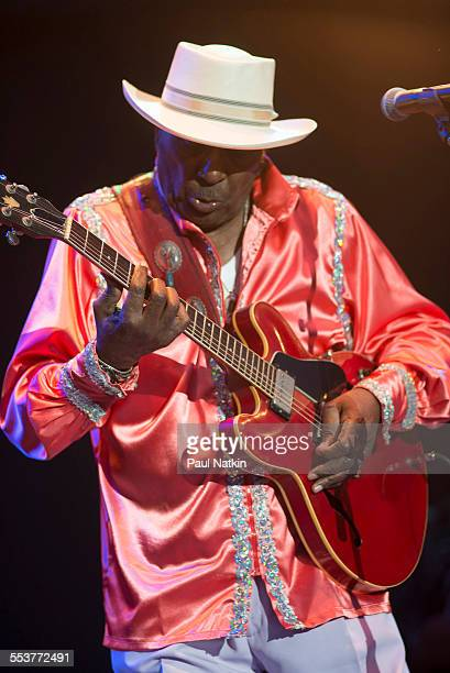 American Blues musician Eddy Clearwater performs onstage during the Chicago Blues Festival at the Petrillo Bandshell Chicago Illinois June 9 2013