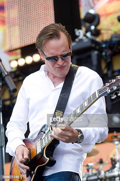 American Blues musician Joe Bonamassa performs onstage at Eric Clapton's Crossroads Guitar Festival at Toyota Park Bridgeview Illinois June 26 2010