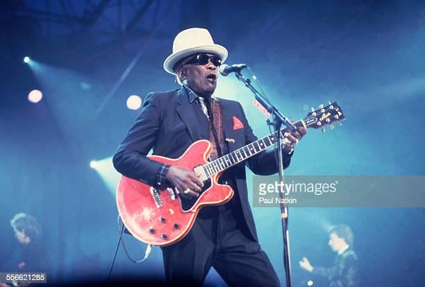 American Blues musician John Lee Hooker performs at Trump Casino Atlantic City New Jersey December 18 1989