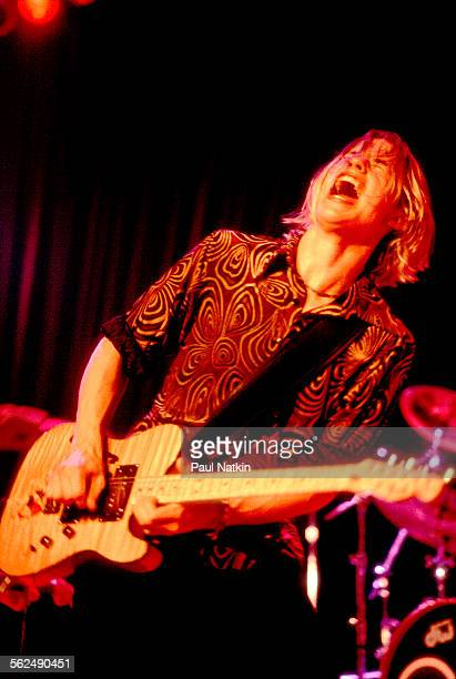 American Blues musician Jonny Lang performs on stage at the House of Blues Chicago Illinois June 24 1997