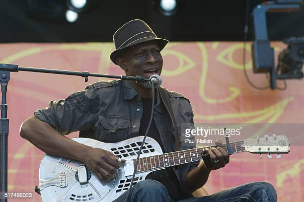 American Blues musician Keb' Mo' performs onstage at Eric Clapton's Crossroads Guitar Festival at Toyota Park Bridgeview Illinois June 26 2010