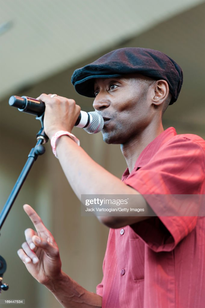 American blues musician Kenny 'Beedy Eyes' Smith performs on Grant Park's Petrillo Music Shell Main Stage during the 29th Annual Chicago Blues Festival, Chicago, Illinois, June 9, 2012.