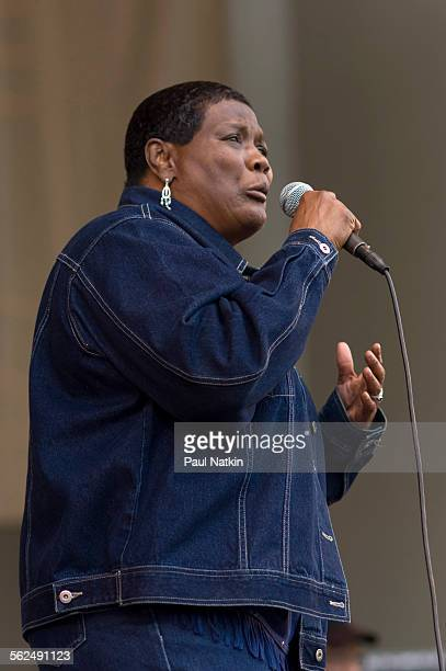American Blues musician Mary Lane performs onstage at the Petrillo Bandshell in Grant Park Chicago Illinois June 10 2006