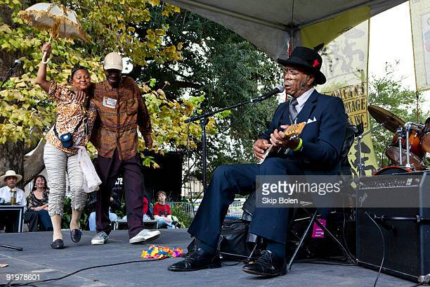 American blues musician Robert 'Wolfman' Belfour performs during day 1 of the 2009 Crescent City Blues BBQ Festival at Lafayette Square Park on...
