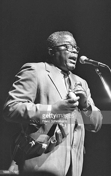 American blues musician Sam Myers performs at Vredenburg in Utrecht, Netherlands on 19th November 1988.