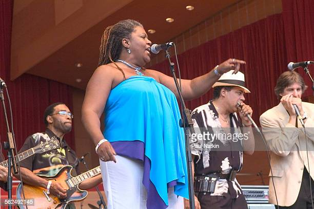 American Blues musician Sharon Lewis performs onstage at Millennium Park Chicago Illinois July 17 2004