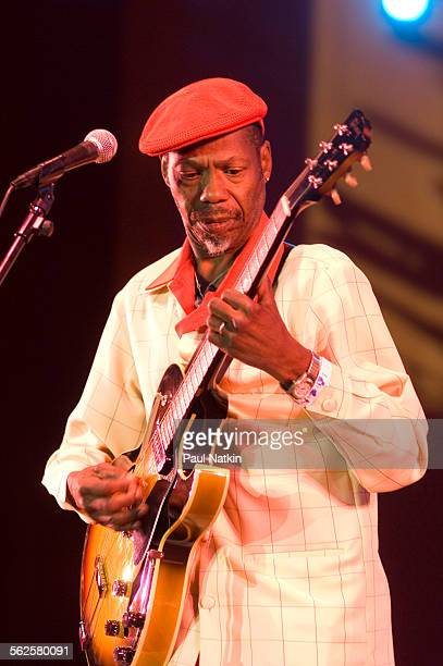 American Blues musician Walter 'Wolfman' Washington performs onstage at the Petrillo Bandshell during the Chicago Blues Festival Chicago Illinois...