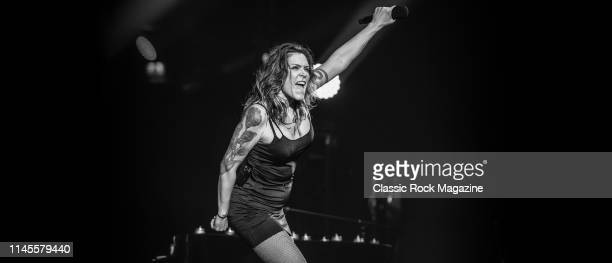American blues rock musician Beth Hart performing live on stage at the Ziggo Dome in Amsterdam on May 12, 2018.