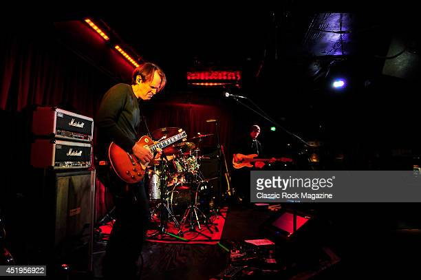 American blues rock musician Joe Bonamassa rehearsing before a live performance at The Borderline in London on March 26 2013