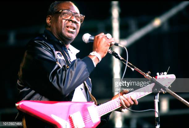 American blues singer and guitarist Albert King performing in Copenhagen Denmark July 1992
