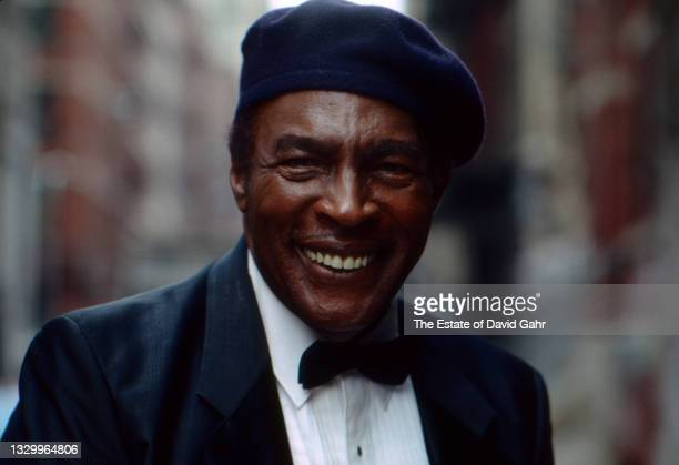 American blues singer and pianist Charles Brown poses for a portrait in May, 1990 in New York City, New York.
