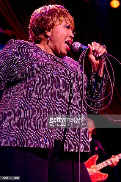 American Blues singer Denise Lasalle performs onstage during a Koko Taylor Benefit at the House of Blues Chicago Illinois November 19 2006