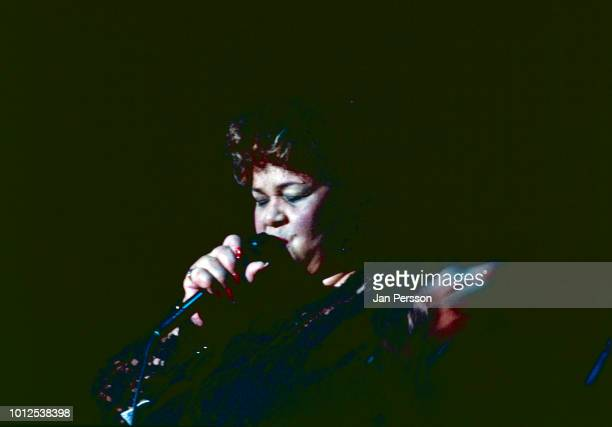 American blues singer Etta James performing at North Sea Jazz Festival The Hague Netherlands July 1993