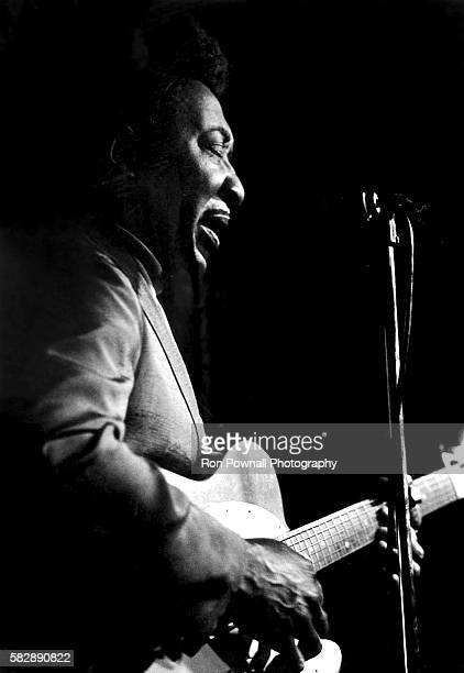 American blues singersongwriter and guitarist Muddy Waters performs live on stage at the Kinetic Playground in Chicago Illinois USA 28th August 1969