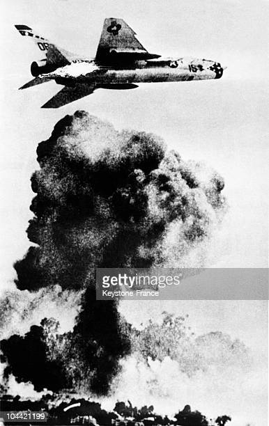 American Bombing In Vietnam In 19651966 This Picture Was Shown In July 1966 In The Exhibition Napalm Against Civilisation At The Headquarter Of The...