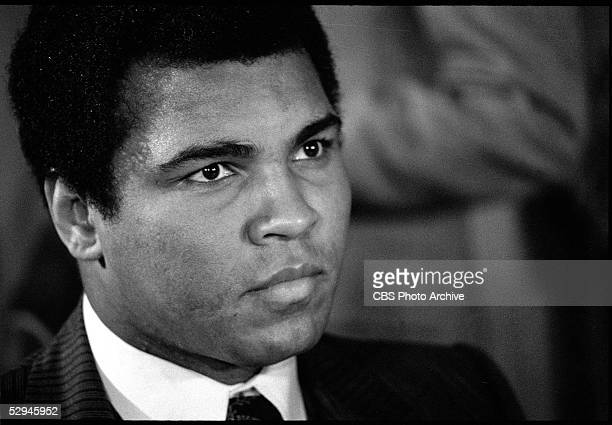 American boxer and sometime actor Muhammad Ali at a press conference at the Waldorf Astoria Hotel Midtown Manhattan New York December 15 1977 Photo...