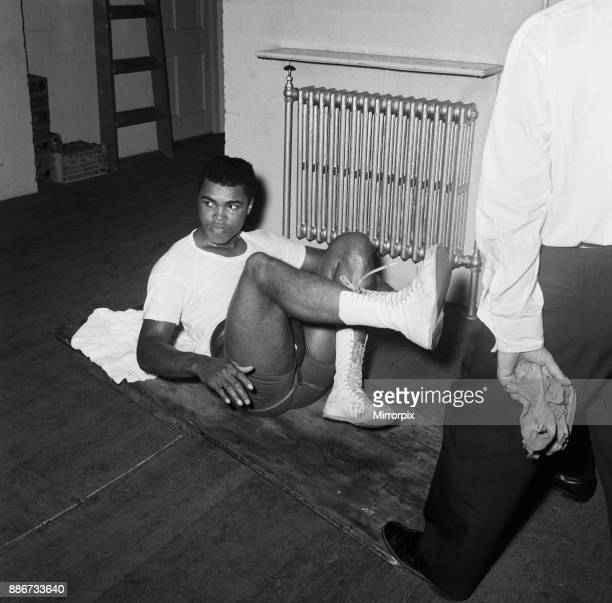 American boxer Cassius Clay Aka training for his non title bout against Britain's Henry Cooper The fight is to be held at Wembley Stadium on the 18th...