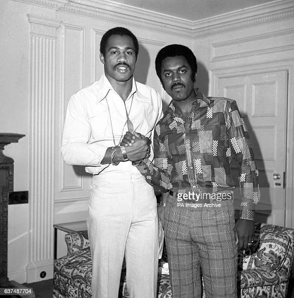 American boxer Ken Norton with Muhammad Ali's PR man