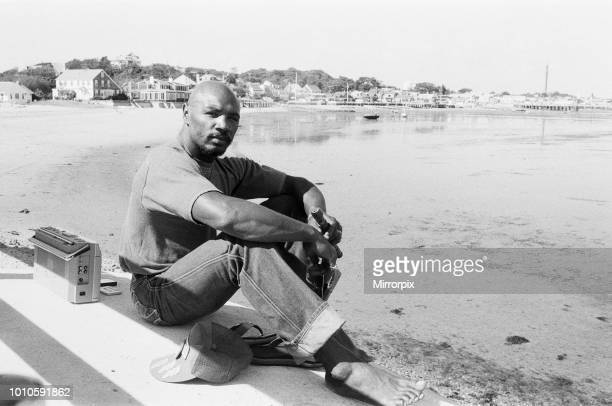 American boxer Marvin Hagler relaxes with a flute ahead of his title challenge against WBC and WBA middleweight champion Alan Minter Hagler dethroned...
