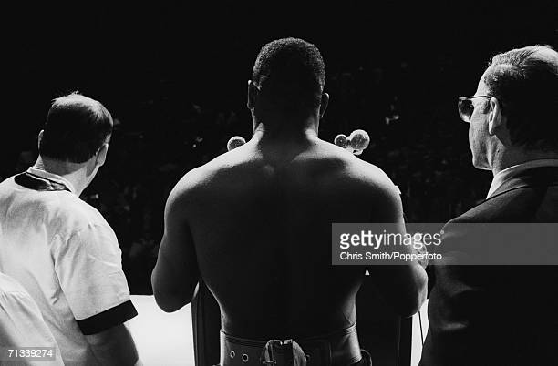 American boxer Mike Tyson at the weigh in before his bout with James Bonecrusher Smith at the Las Vegas Hilton March 1987
