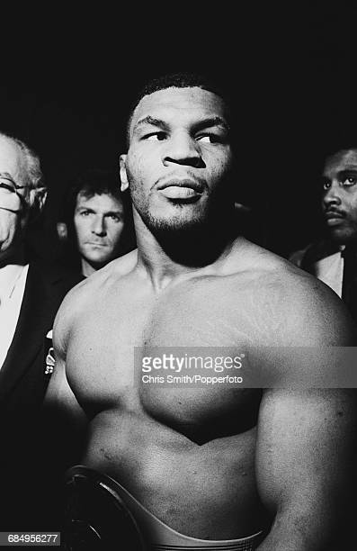 American boxer Mike Tyson pictured at the Las Vegas Hilton prior to his heavyweight title bout with James 'Bonecrusher' Smith in Las Vegas Nevada on...