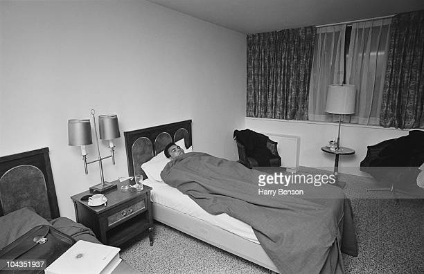 American boxer Muhammad Ali in bed in his hotel room 15th February 1967
