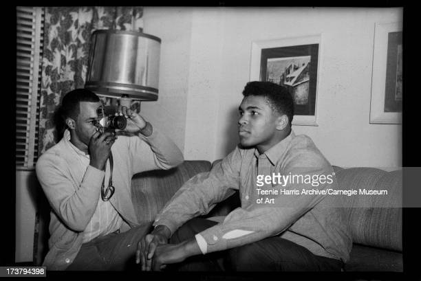 American boxer Muhammad Ali sits on a sofa as he poses for a profile photograph Pittsburgh Pennsylvania 1963