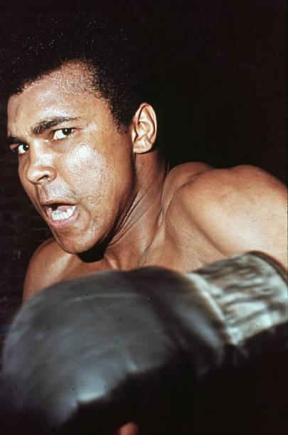 Ali Glares At Opponant