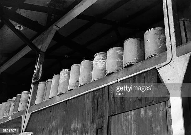 American boxes dried milk Paris 1946