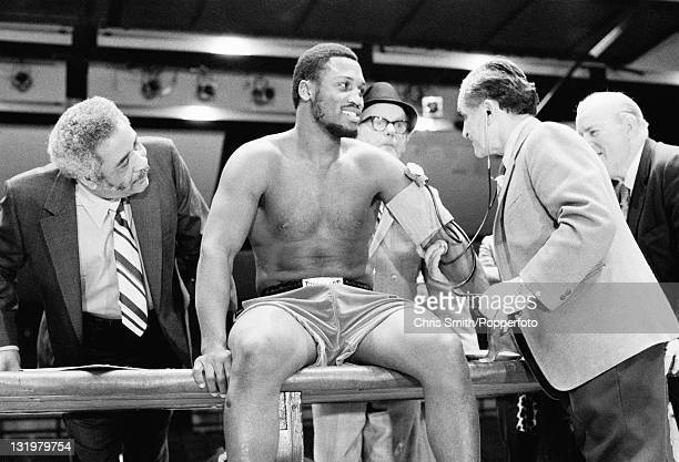 American boxing champion Joe Frazier gets a medical checkup prior to his fight with Muhammad Ali 4th March 1971